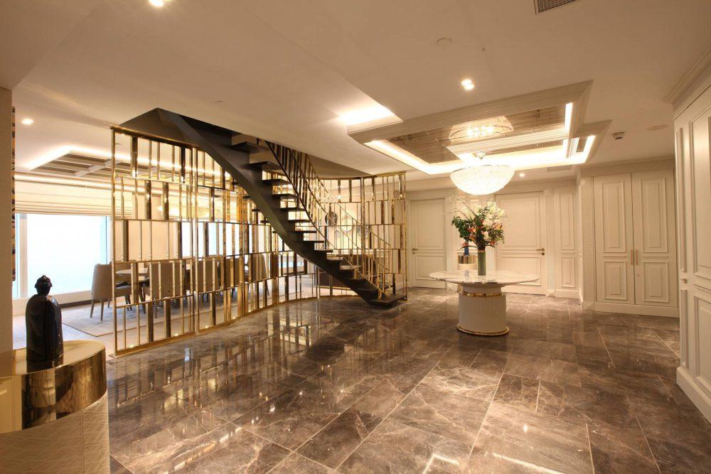 Merdiven ve Korkuluk Gold PVD Kaplama ile evinizi baştan oluşturmak sizin elinizde